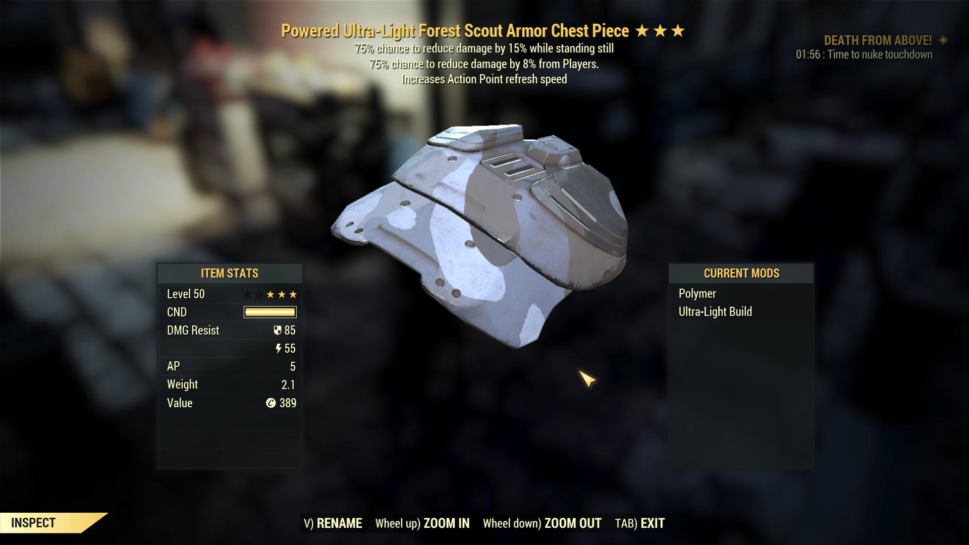 [PVP SET] Assasin's Sentinel (Powered) Urban Scout Armor Set (5/5 FULL AP REFRESH)