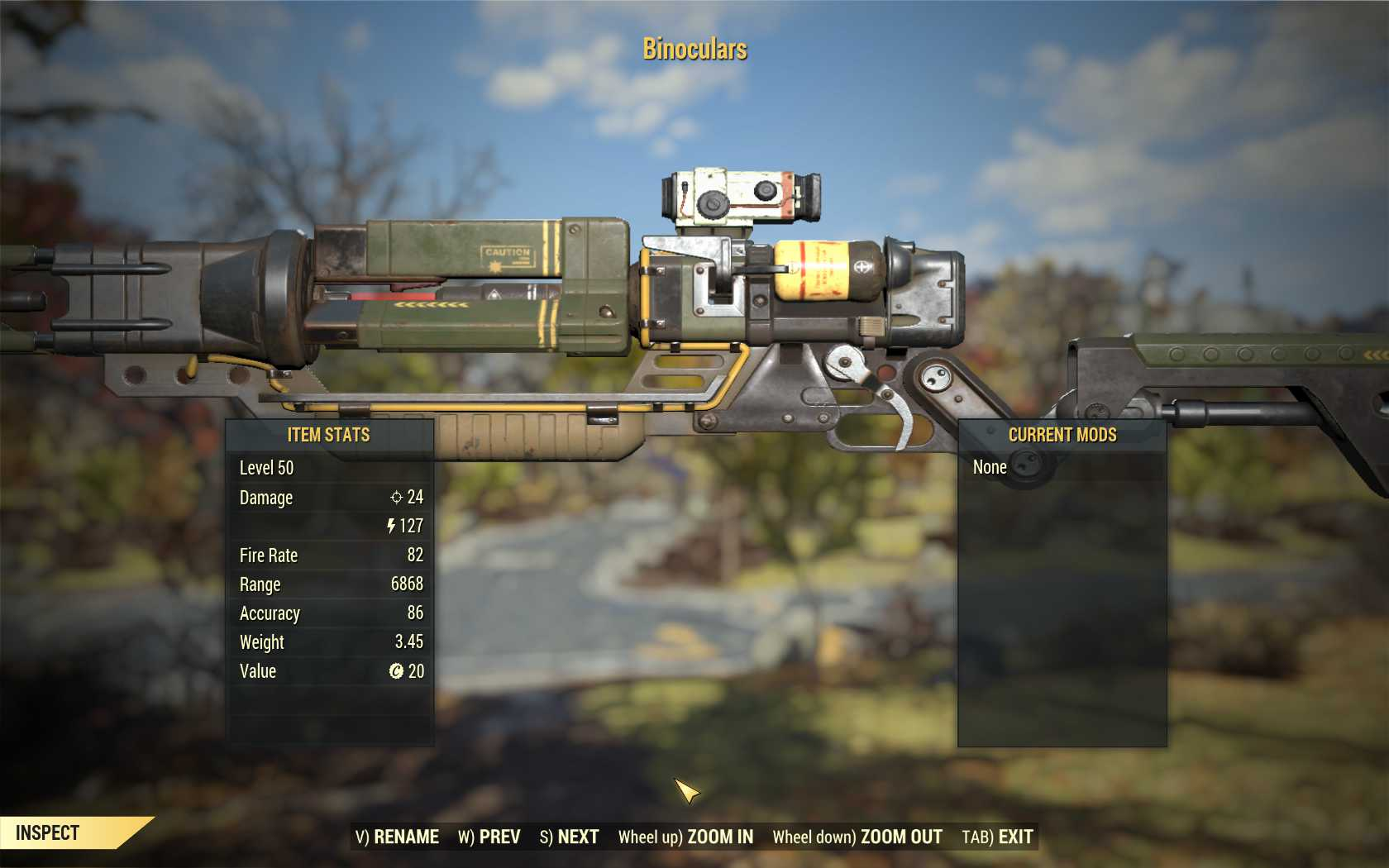 [Glitched weapon] Laser Rifle (Unlimited & Unbreakable)