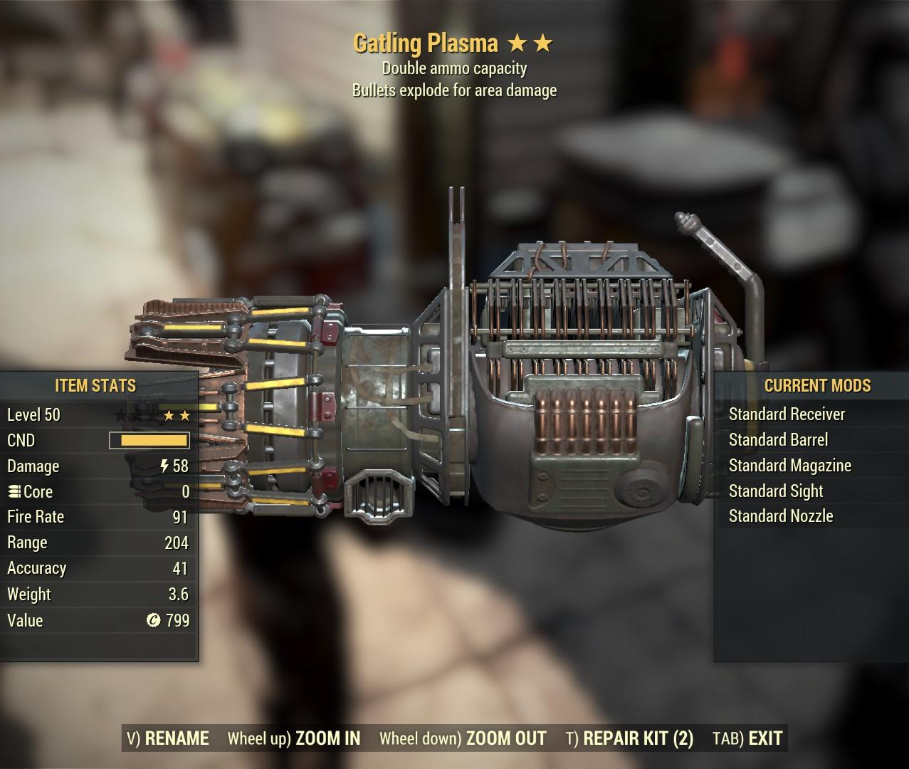 Double Gatling Plasma (Exploding)