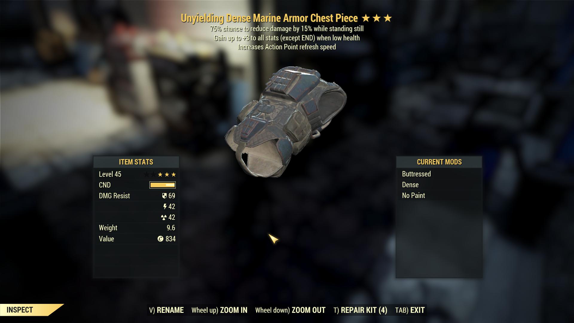 Marine Armor Set [Unyielding / Sentinel / 5/5 FULL AP REFRESH]