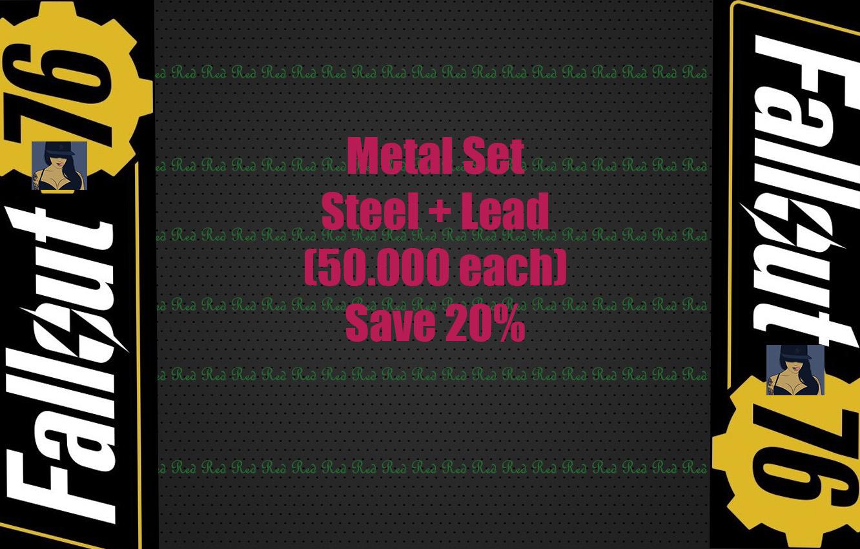 Metal Set Steel + Lead (50.000 each) Save 20% !