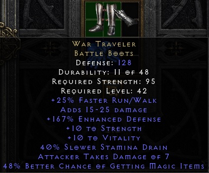 War Traveler %45 MF (D2R Softcore PC - Instant Delivery)
