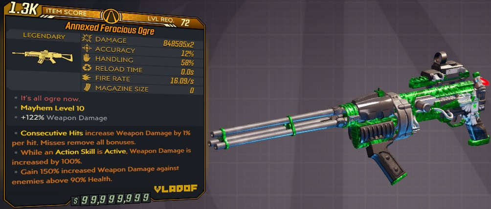 ★★★[PC/XB] M10/L72 - OGRE 848.595x2 DMG - 16.09 FIRE RATE, NO RELOAD/INFINITE AMMO - ANOINTED x3★★★