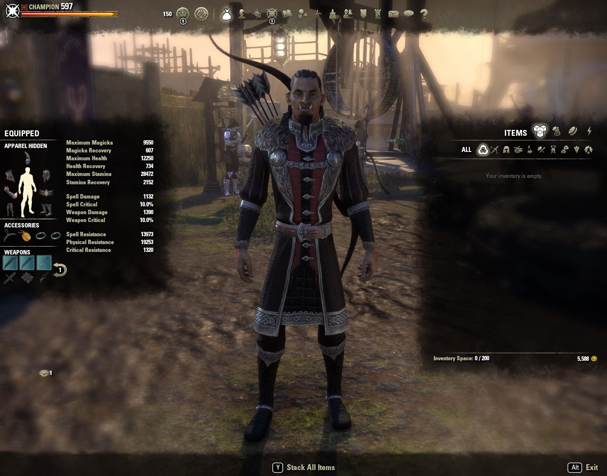 [PC-EU] 9 lvl 50. Nightblade-8, Sorcerer. 597 CP, MAX PROFESSIONS 5, MAX GUILDS 1.