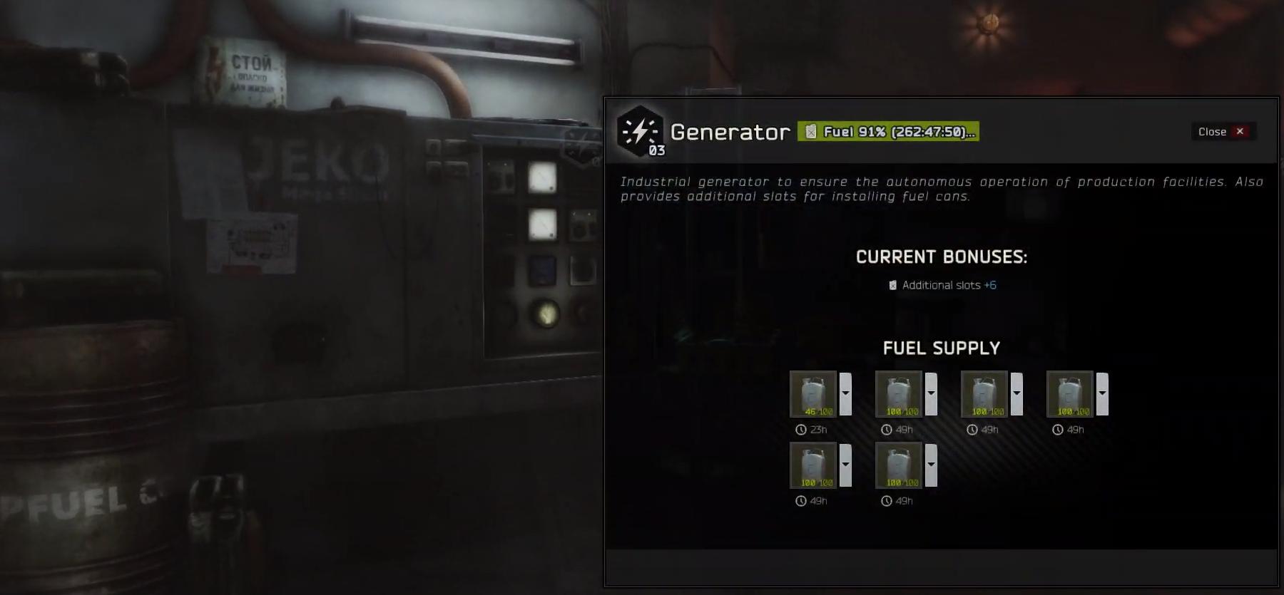 All items Generator lvl 3 [Hideout]