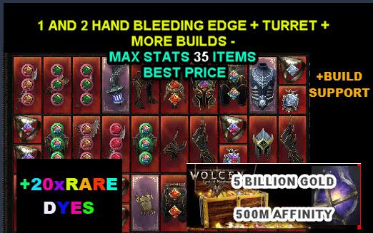 2-Hand & 1-Hand Bleeding edge   Auto Turret   35 Items Best price   Gift 5B gold 500m Affi 20RareDye