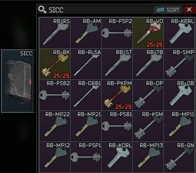 ⚜️⚜️ ALL reserve keys + SICC case ⚜️⚜️