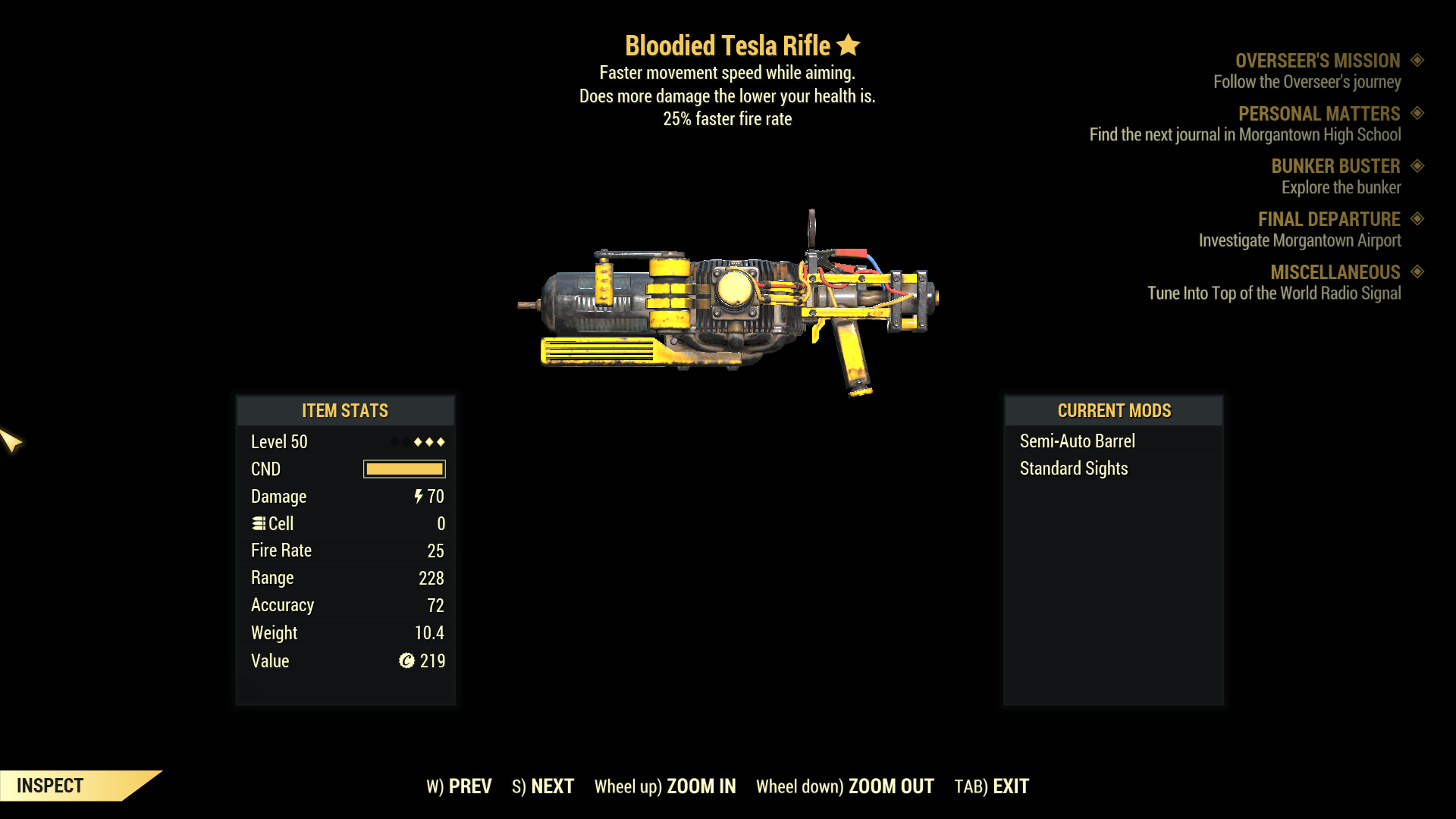 ★★★ Bloodied Tesla Rifle[25% Faster Fire Rate][Faster Movement] | FAST DELIVERY |