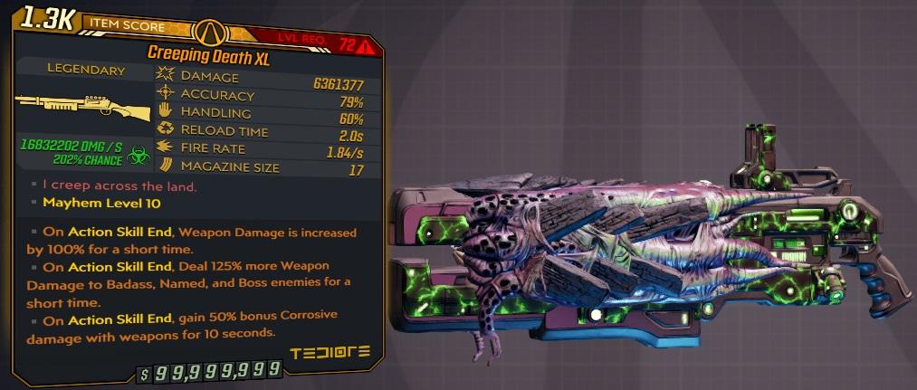 ★★★[PC/XB] M10/L72 - CREEPING DEATH XL 6.361.000 DMG (+16.8 MIL CORROSIVE DMG) - ANOINTED x3★★★
