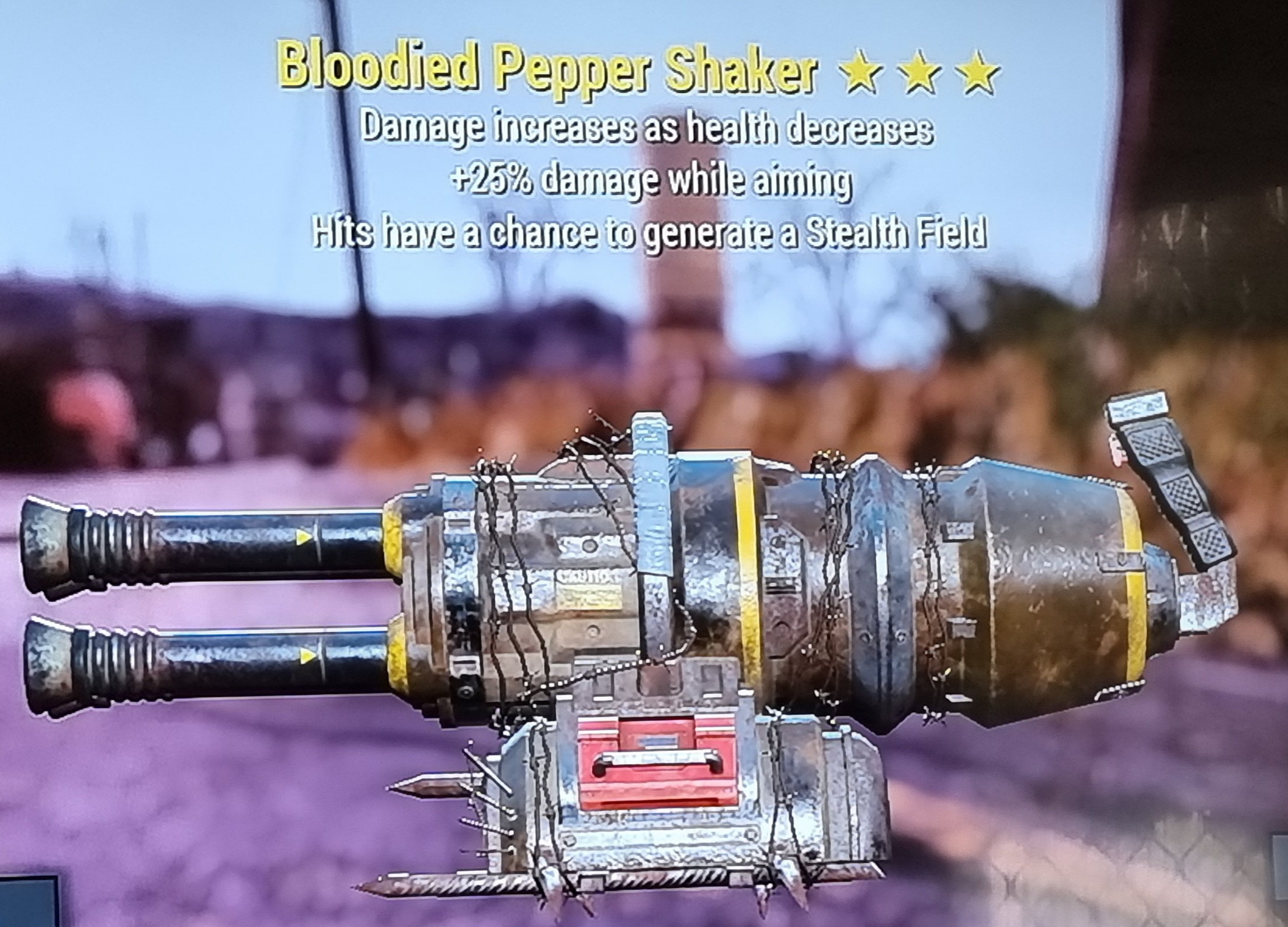 Bloodied Pepper Shaker FALLOUT 76 PS4