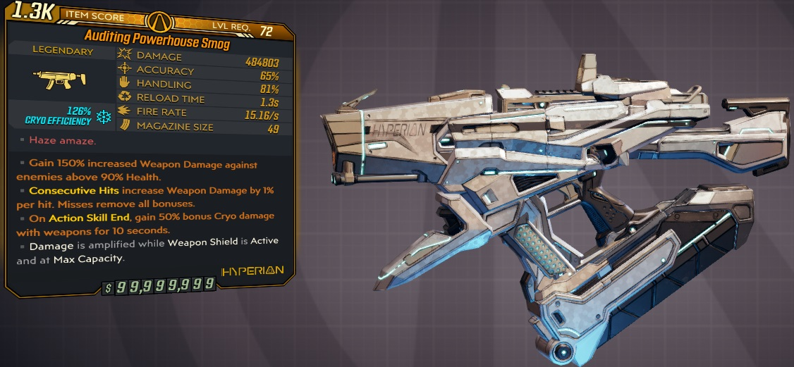 ★★★[PC/XB] M10/L72 - SMOG 484.803 DMG (126% CRYO EFF) - 15.16 FIRE RATE - 1.3s RELOAD - ANOINTED★★★