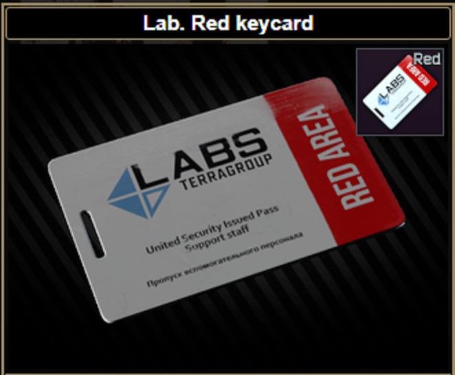 ★ ❤️【Lab. Red keycard】❤️ ★