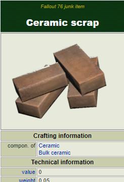 (PC) Ceramic scrap [1000 pieces]