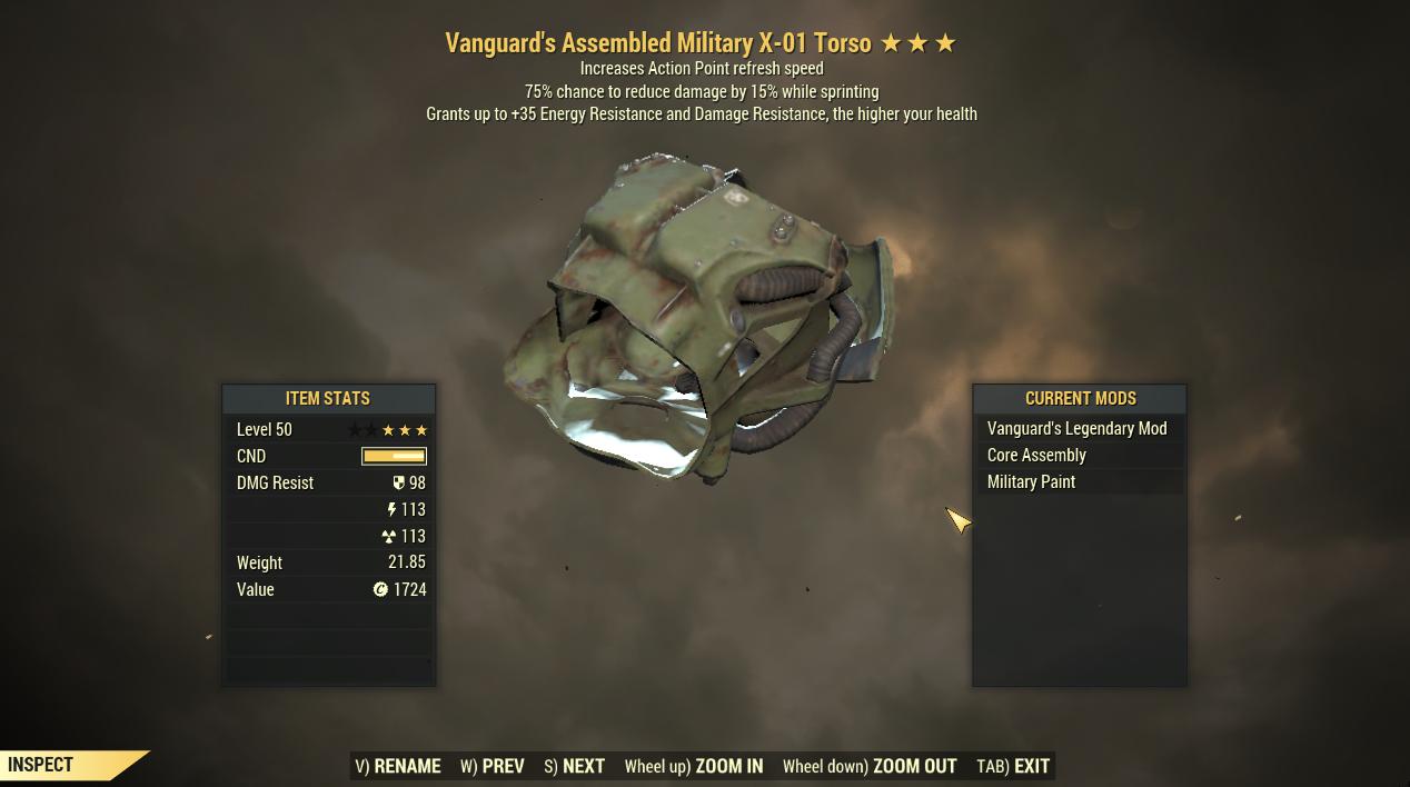 [Legendary Power Armor] Vanguard Cavalier X-01 Power Armor