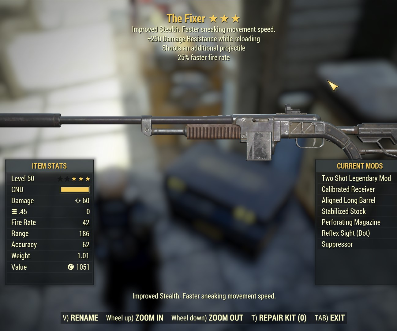 Two Shot The Fixer (25% FFR +250 DMG Res)