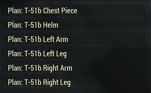 Plan: T-51b [Power Armor all in one plan pack set Bundle]