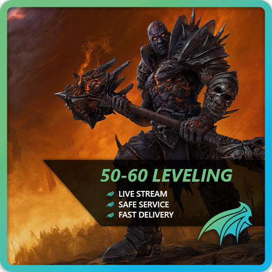 50-60 Shadlowlands 10-16 hours - SUPER FAST AND CHEAP LEVELING+UNLOCK THE MAW+WORLD QUESTS+TORGHAST