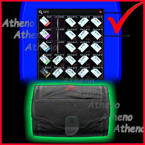 S I C C case + Lab. full keyset - Red, Blue, Black, Yellow, Green, Violet + 3 keys + 16 cards SICC