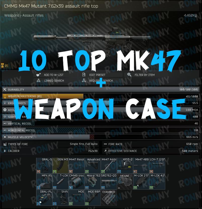 10 TOP MK47 MUTANT + WEAPON CASE  |12.11|