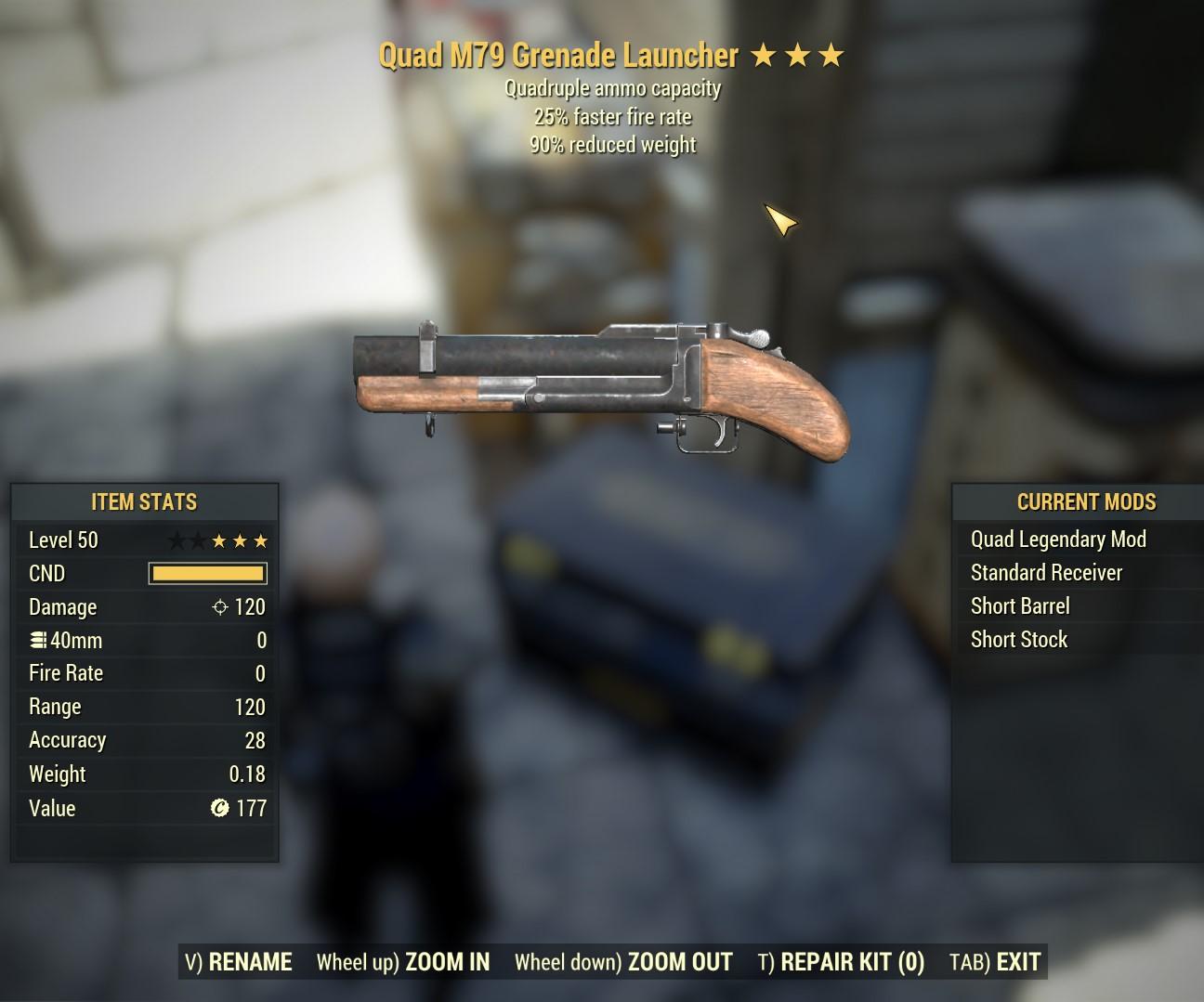 Quad M79 Grenade Launcher (25% FFR 90% RW)
