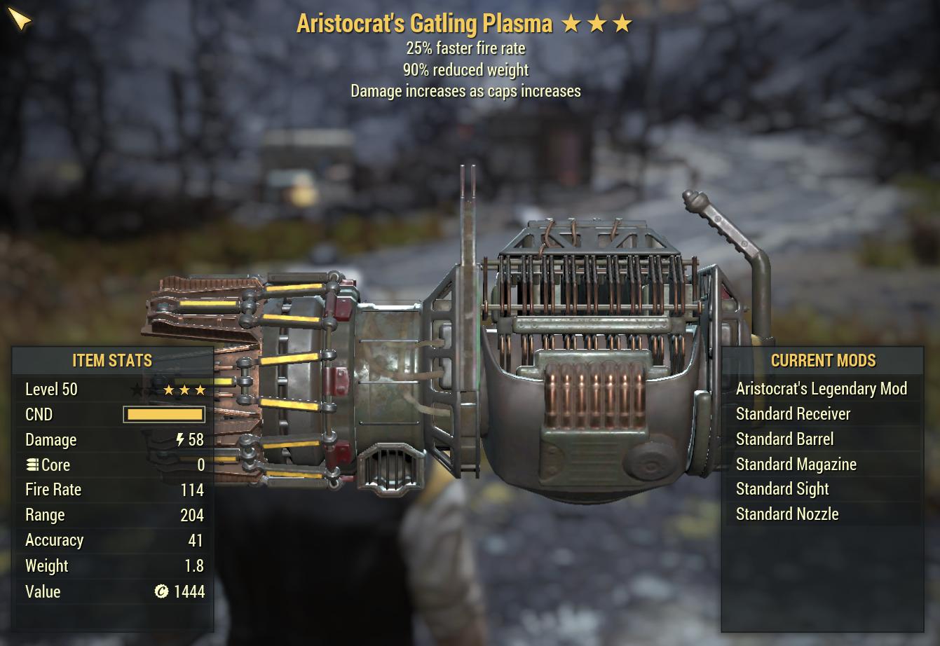 Aristocrat Gatling Plasma [ 25%FFR/90% Reduce weight]