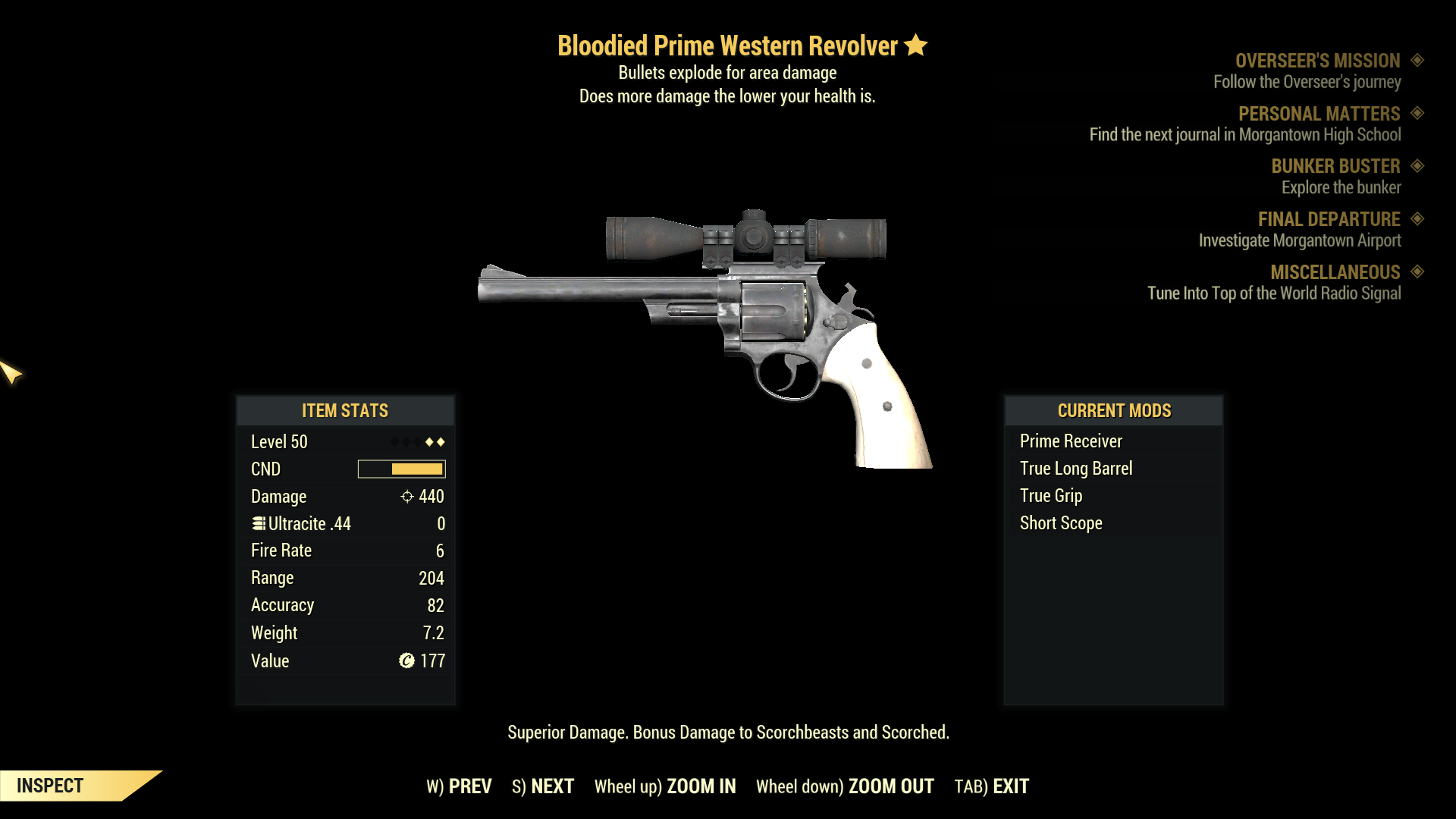 ★★ Bloodied Explosive Western Revolver | PRIME | FAST DELIVERY |