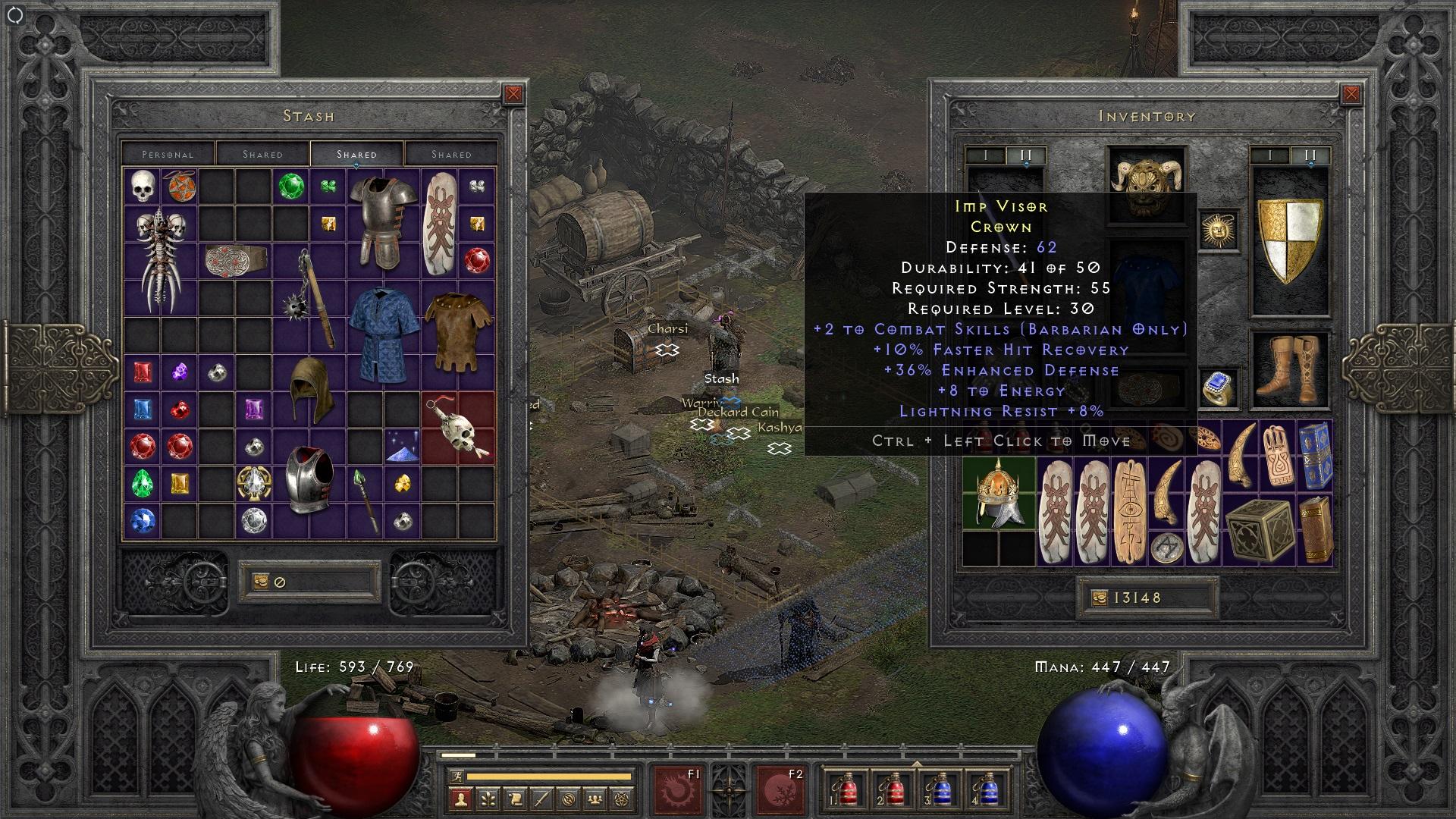 Imp Visor + 2 barbarian skill