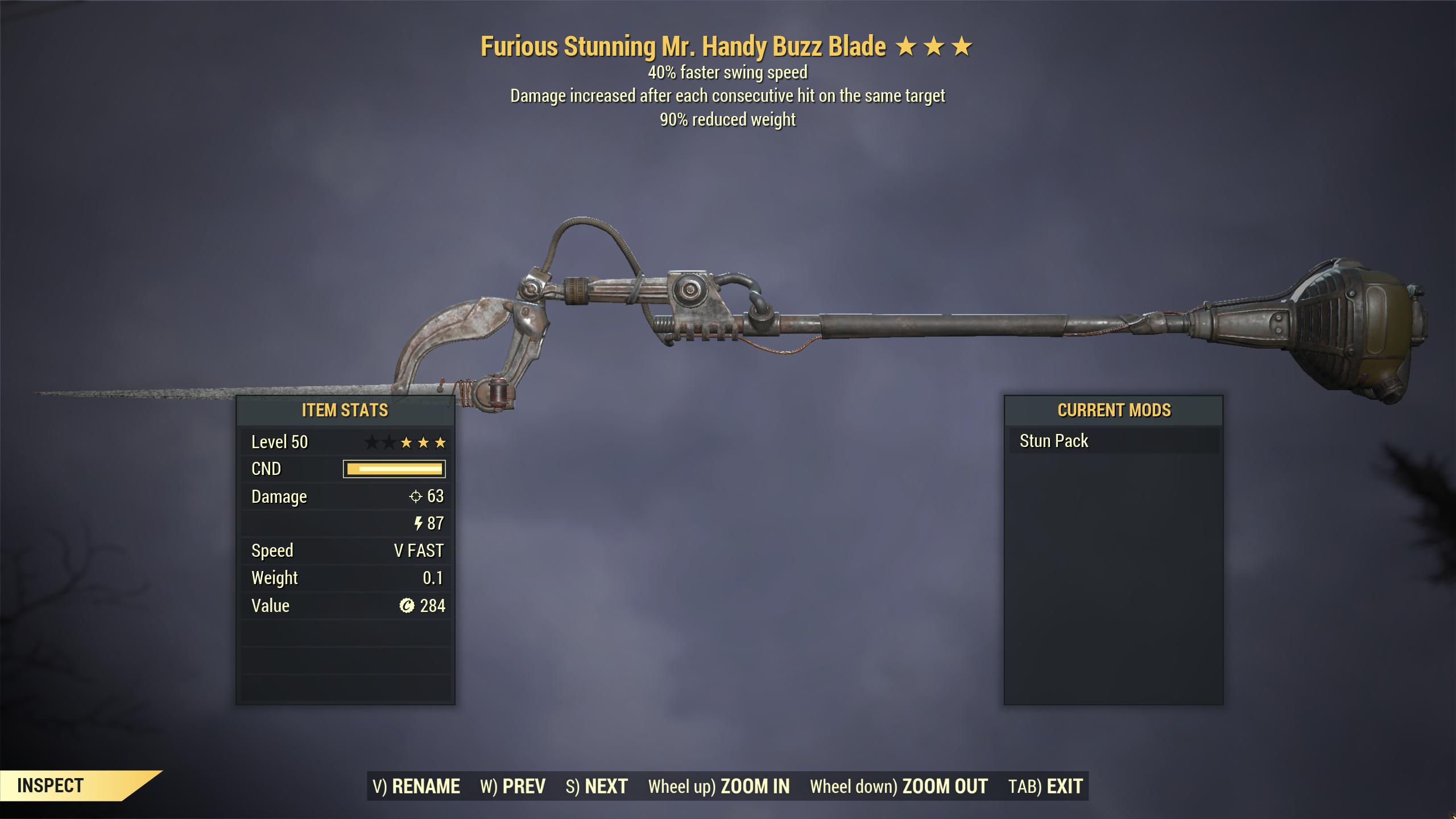 [STUN ENEMIES] ★★★ Furious Mr Handy Buzz Blade[STUN MOD] | FAST DELIVERY |