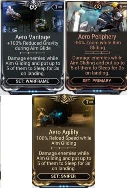 (PC) Aero mod set (agility, Vantage, Periphery) // Instant delivery