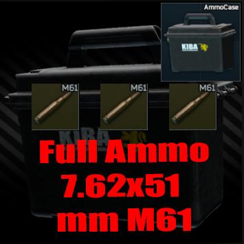 ★ ❤️【Ammo 7.62x51 M61 ▶Ammo Case ▶ 1960 Bullet】❤️ ★